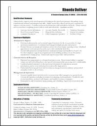 Executive Assistant Resume Examples Interesting Resume Template Stay At Home Mom Black And White Administrative