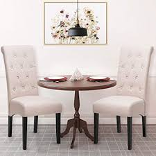 harper bright designs dining chairs fabric on tufted dining chairs with solid wood legs