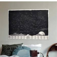 Star Chart Wallpaper Us 11 39 5 Off 1 Piece Vintage Glow In The Dark Night Sky Stars Map Poster Noctilucent Constellation Wallpaper Sticker Map Decal In Wall Stickers