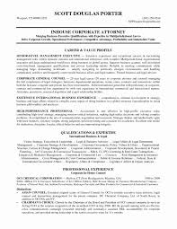 In House Counsel Resume 35 Sample In House Counsel Resume General