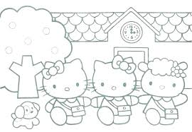 Printable Coloring Pages Free Hello Kitty Stasbalaurinfo