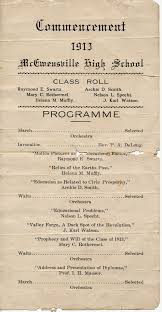 page a hundred years ago commencement program 1