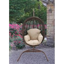 hanover outdoor furniture rattan wicker pod swing chair with full cream cushion com