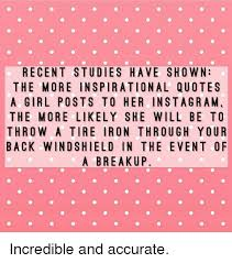 RECENT STUDIES HAVE SHO WN THE MORE INSPIRATIONAL QUOTES A GIRL Stunning Recent Inspirational Quotes