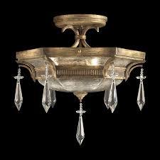 fine art lamps 569840 monte carlo crystal semi flush mount ceiling fixture