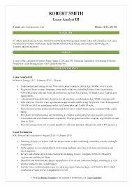 Commercial Lease Abstract Template Lease Analyst Resume