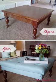 Image Kitchen 20 Creative Ideas And Diy Projects To Repurpose Old Furniture u003e Turn An Old Coffee Table Into Tufted Ottoman Pinterest 20 Creative Ideas And Diy Projects To Repurpose Old Furniture