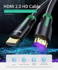 Cáp HDMI Essager Cáp 4K Nam đến Nam HDMI 2.0 Dành cho Máy chiếu TV PS4 Bộ  chia âm thanh Chuyển đổi cáp HDMI sang HDMI Extender