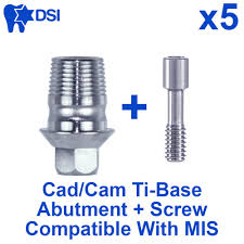 Dental Implant Compatibility Chart Details About 5 Dental Implant Cad Cam Connection Ti Base Abutment Internal Hex Mis Compatible