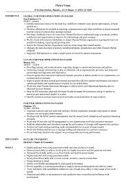 Operations Manager Resume Examples Partner Operations Manager Resume Samples Velvet Jobs 37