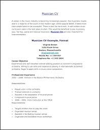 Musician Resume Template Southbay Robot
