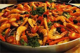Resultado de imagem para Paella de frutos do mar