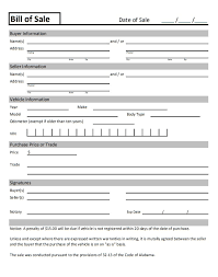 Using a bill of sale protects the buyer and the seller from future legal the following template is a generic bill of sale that you can use to transfer ownership of any personal property. Car Bill Of Sale Pdf Printable Template As Is Bill Of Sale
