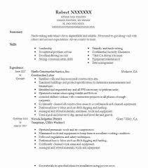 Sample Construction Resume Englishor Com