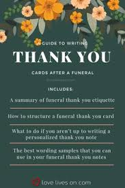 59 Best Funeral Thank You Cards Images On Pinterest