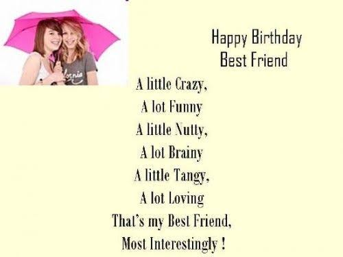 funny birthday status for best friend
