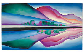 georgia o keeffe paintings for georgia okeeffe double view painting fetches 129m at auction