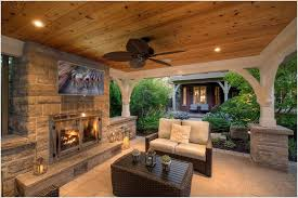 outdoor patio with seating stone areas texas es