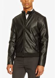 kenneth cole reaction men s faux leather and neoprene moto jacket
