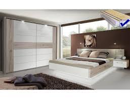 Schlafzimmer Rubio 20b Sandeiche Weiß Hochglanz Bett Komplett Nako