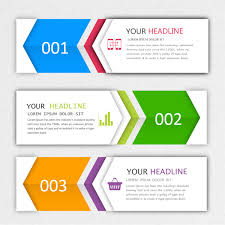 banner design template modern infographics banner template free vector in adobe illustrator