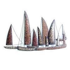 fleet of boats metal wall art on wall art metal sculptures uk with fleet of boats metal wall art sculpture gallery uk