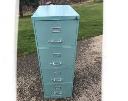 file cabinet. Vintage Aqua Blue Vertical Four-Drawer Metal File Cabinet - LOCAL PICKUP  ONLY Washington, Pa 15301 File Cabinet