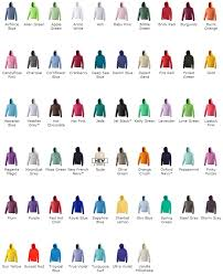 Hoodie Colour Chart Rock Vox Hoodie Sigma Embroidery Cambridgeshire