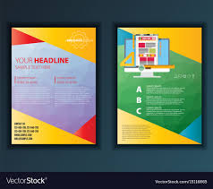 Modern Abstract Brochure Report Or Flyer Design