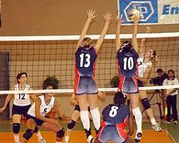 Волейбол Википедия Волейбол Двойной блок закрывает атаку из 4 й зоны