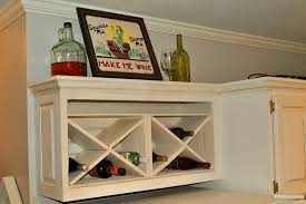 Amazing Grays DIY Over Fridge Wine Rack