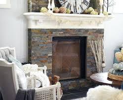slate tile fireplace surround ideas grey stone black tiles