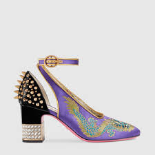 gucci 2017 shoes. dragon satin mid-heel pump gucci 2017 shoes e