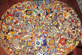 mosaic table top table before grout diy glass mosaic table top