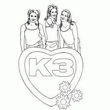K3 Kerst Kleurplaten