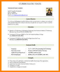 9 Cv Sample Format For Freshers Theorynpractice