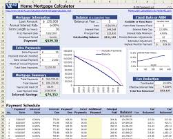 Free Home Mortgage Calculator For Excel Mortgage Payoff Mortgage