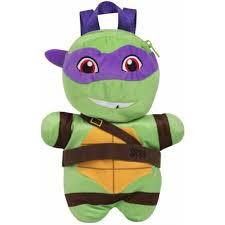 teenage mutant ninja turtles rugzak pluche donatello paars