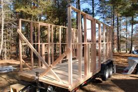 how to frame a tiny house on a trailer
