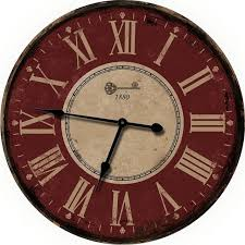 french decor red wall clocks