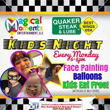 face painting balloon twisting quaker state lube