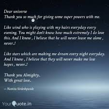 Dear Universe Thank You Quotes Writings By Namita