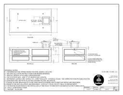 Concrete Cistern Tank Design 3300 Gallon Reinforced Precast Concrete Cistern Made In Ohio
