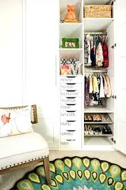 organized nursery closet with day of the week drawers project storage ideas ikea clever organization