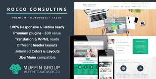 Website Templates Wordpress Interesting Rocco Flat WordPress Theme By Muffingroup ThemeForest