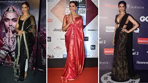 Deepika Padukone Designer Name Deepika Padukones Best Designer Sarees Sharara Kurta