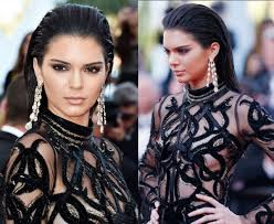 makeup with black dress kendell jenner