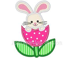 Free Applique Embroidery Designs To Download Easter Bunny Tulip Flower Applique Machine Embroidery Design