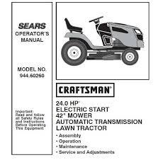 craftsman tractor parts manual 944 60260