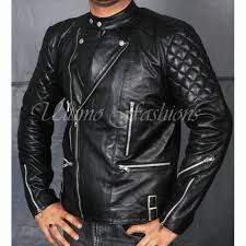 men s stylish black brando biker leather jacket